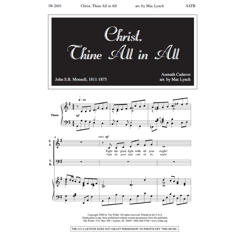 Christ, Thine All in All